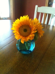 Sunflowers were on sale. Looking at these made me happy for at least a week!